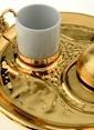 Decoristan Tekli Altın Nar Kahve Seti Altın